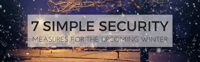 7 Simple Security Measures for Winter